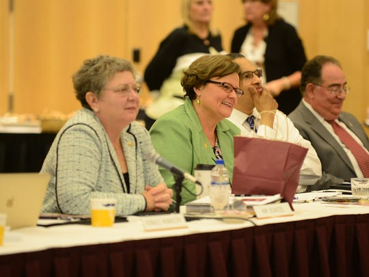 Dr. Janet Dudley-Eshbach during the University System of Maryland Board of Regents meeting on Friday, June 22, 2018 held at Salisbury University.