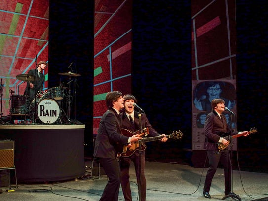 """A key moment in """"Rain"""" is the re-creation of the Beatles'"""