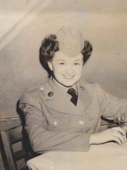 Bonnie Stage as a young woman in 1945. Stage served