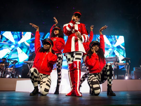 Janelle Monae performs at the BMO Harris Pavilion July