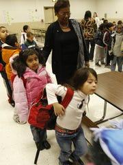 Judith Johnson visits Oakside Elementary School in 2008, when she was Peekskill's superintendent of schools.