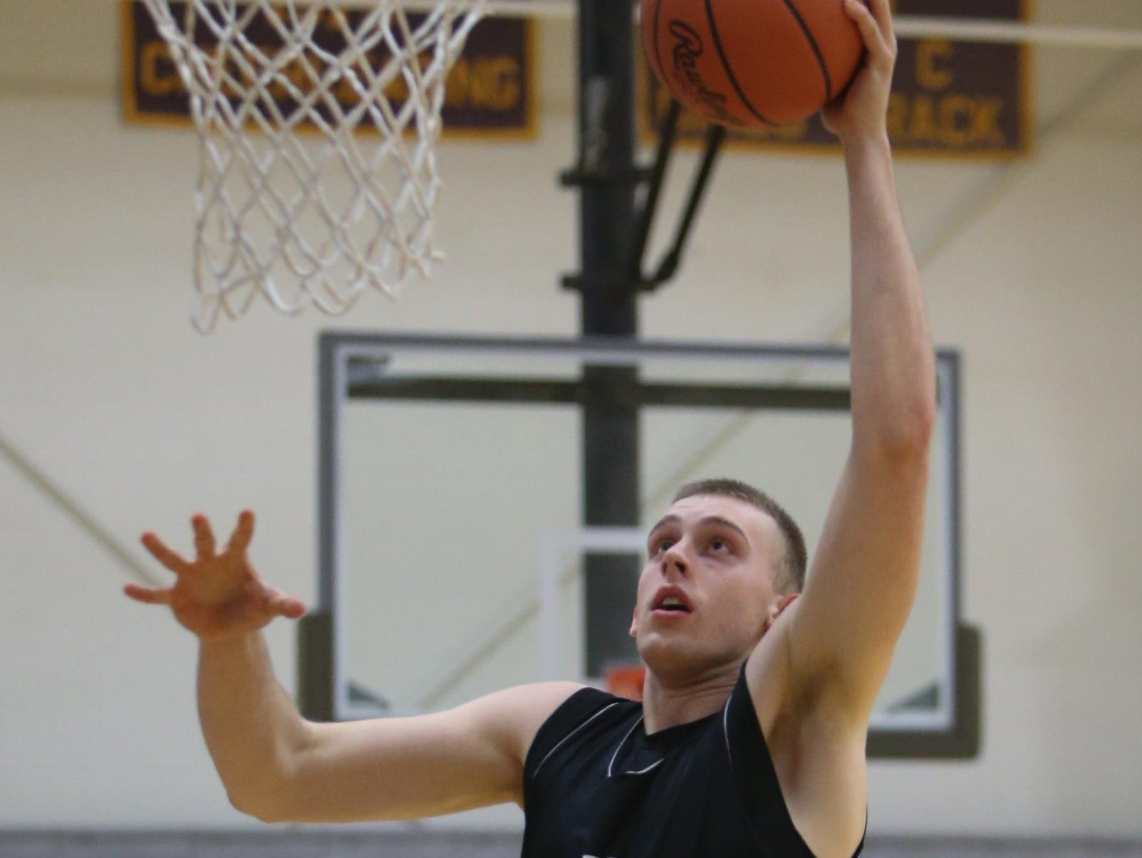 Onsted's Austin Davis lost weight during the off-season and improved his mobility.