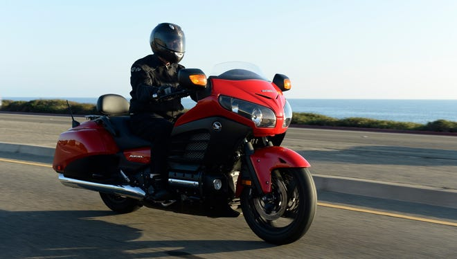 USA TODAY's William Welch rides the Honda's 2013 F6B motorcycle on the Pacific Coast Highway.