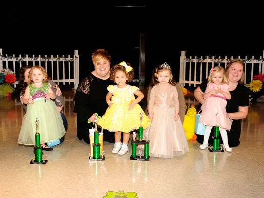 The 2-year-old winners are, from left, Madelyn Brooke, third runner-up and People's Choice winner; Dallas Marie, first runner-up; Hadley Lewis, Tiny Princess; and Breanna Brown, second runner-up.