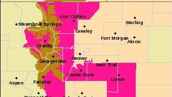 Fire danger will increase through the second half of the weekend across much of Colorado.