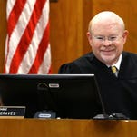 Marion County Circuit Court judge Dennis Graves presides over court, Thursday, October 29, 2015, in Salem, Ore. Graves has been a judge for more than 16 years.