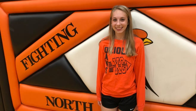 North Fond du Lac's Faith Peebles finished fourth at the Flyway Conference cross country meet to earn first-team all-conference honors for the fourth straight year.