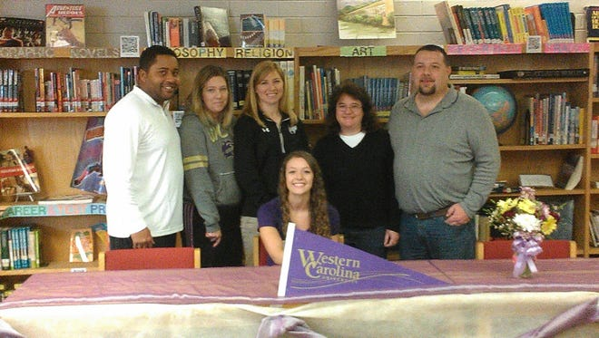 Andrews senior Erin West has signed with the Western Carolina University track and field program.