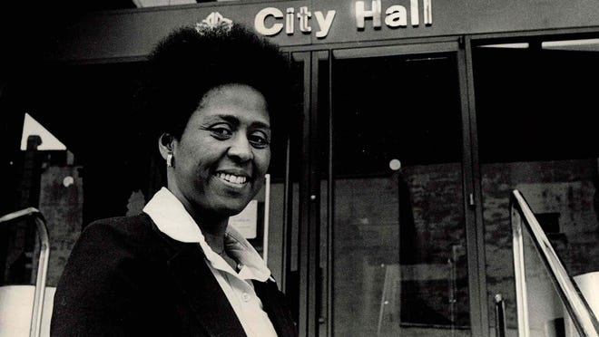 Ruth Scott, the first African-American woman elected to Rochester City Council, is seen outside City Hall in 1978. She has chronicled her life's journey in a memoir.