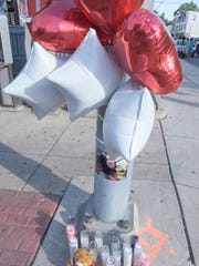 A makeshift memorial for Elizabeth Grisel Vega-Tirado,