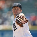 Detroit Tigers pitcher Jordan Zimmermann throws against the Toronto Blue Jays during the first inning Wednesday, June 8, 2016 at Comerica Park in Detroit, MI.