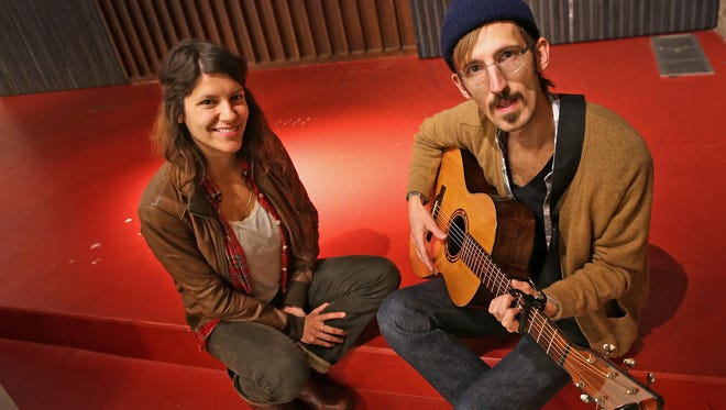 Lauren and Daniel Goans of Lowland Hum are participating in the Harrison Center for the Arts' program, 48 Hour Residency.