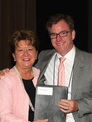 Brian Coleman, right, and Deborah Varallo