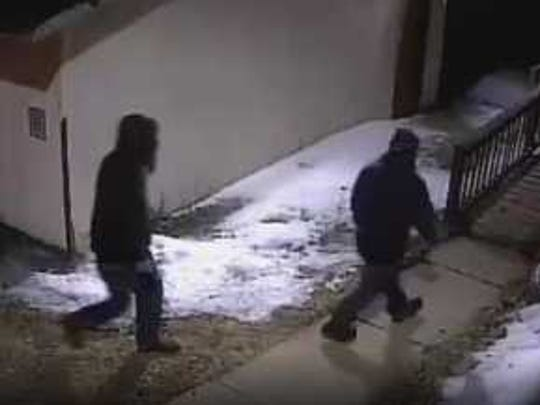 Marathon County Crime Stoppers is asking for your help to identify the two people responsible for an attempted business burglary, and criminal damage to property, in the town of Texas. The two suspects were captured on the surveillance system. Both suspects were wearing clothing to cover their face. One suspect was much taller than the other.