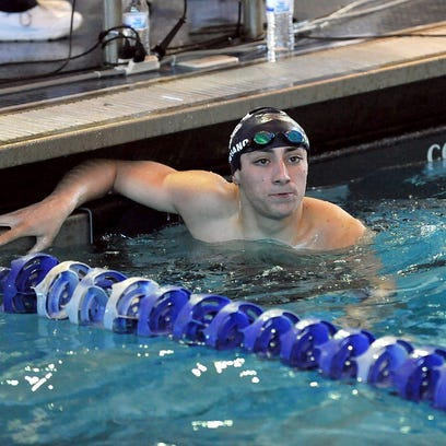 Freshman Vinny Marciano made his presence known around the pool this winter, becoming the first Randolph boy to earn a NJSIAA swimming title.