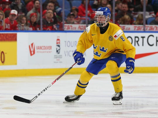 Swedish defenseman Rasmus Dahlin is the overwhelming favorite to be chosen by the Buffalo Sabres with the first pick in the 2018 NHL draft.