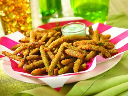 Fried Green Beans with Cucumber-Wasabi Ranch dip is an appetizer at TGI Friday's