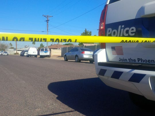 Phoenix police were investigating a crime scene near