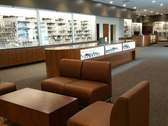 Customers at Reno Guns & Range can comfortably browse in a 4,500-square-foot retail area.