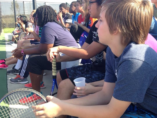 Wicomico Middle School students listen to a motivational