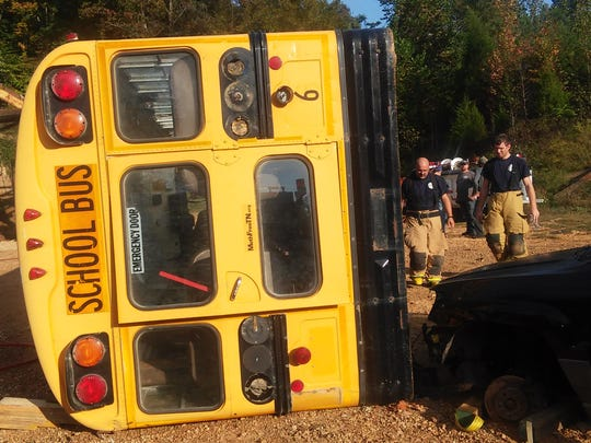 The scenario for the mass casualty drill was a vehicle