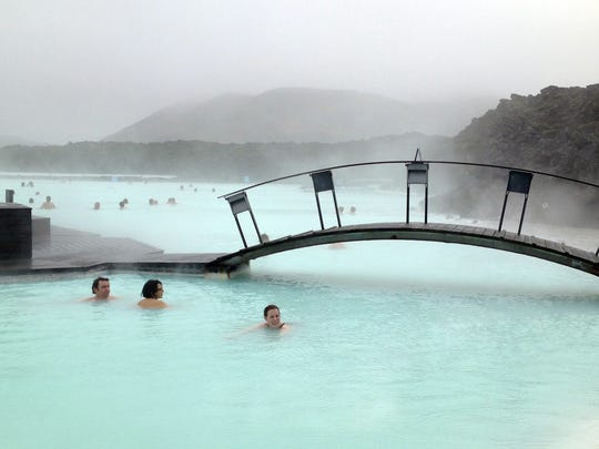 The Blue Lagoon pool in Iceland.