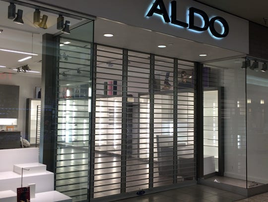 Aldo closed its shoe store last weekend in the mall.