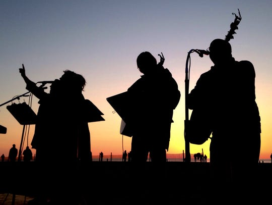 Musicians perform at Easter sunrise service Sunday