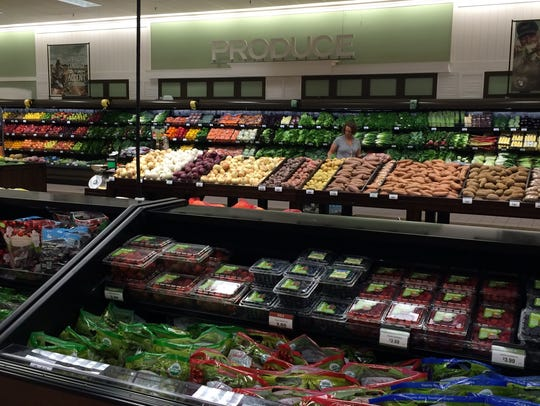 The remodeled produce department in Pick 'n Save on