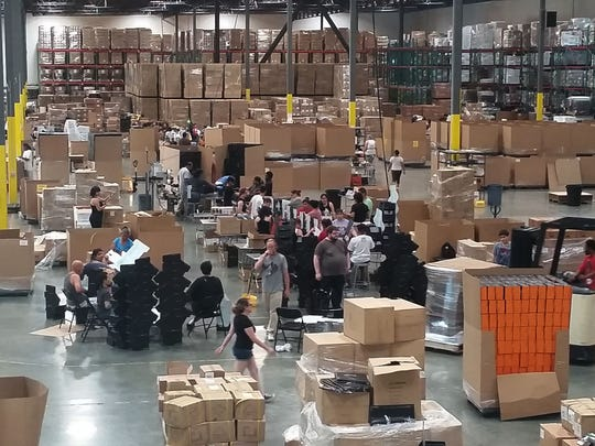Loot Crate's global fulfillment center in Bell, California, ships thousands of logo'ed subscription boxes monthly.