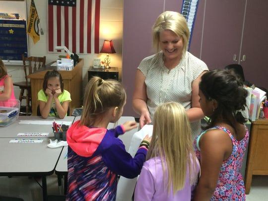 Third-grade teacher Jessica Miller described a project
