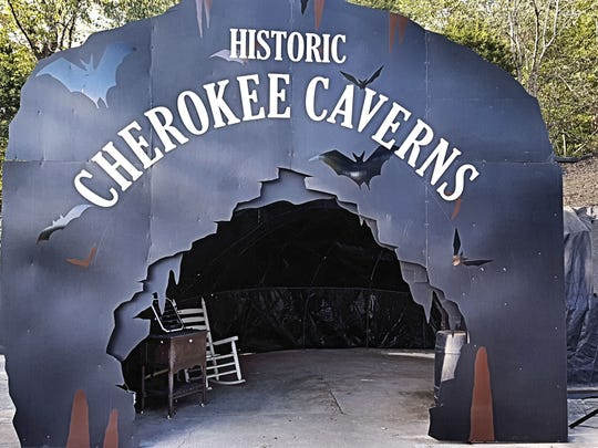 Cherokee Caverns hosts a trick or treat in the cave.