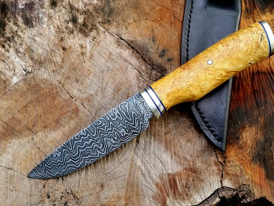 A Damascus steel blade crafted by Tallahassee bladesmith, Dan Hurtado, who's starring on the History Channel's show, Forged in Fire.