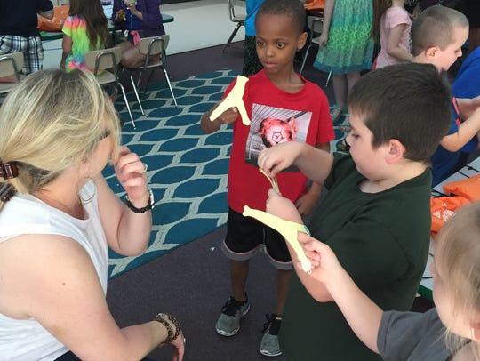 W.A. Wright Elementary teacher Missy Zimmerman works