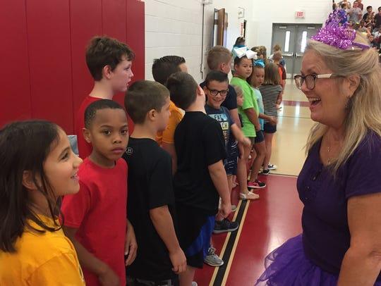 West Elementary Attendance Secretary Paula Crawford,