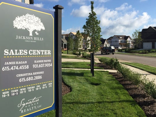 The Jackson Hills neighborhood in Mt. Juliet that continues to build homes.