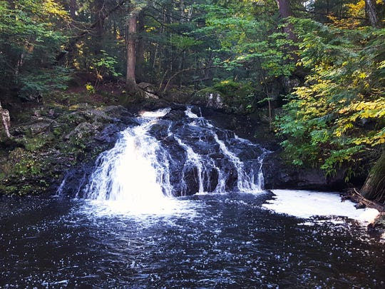 Trap Falls is a small and remote waterfall deep in Michigan's Porcupine Mountains Wilderness State Park.