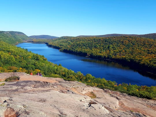 Lake of the Clouds is a prime spot for seeing fall colors in Porcupine Mountains Wilderness State Park in Michigan's Upper Peninsula.