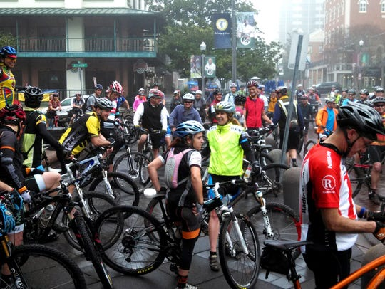 As many as 200 Tallahassee cyclists gather at city