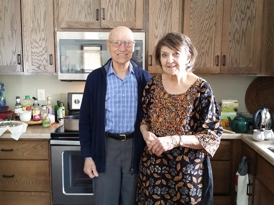 Sylvester and Vera in their retirement home in St.
