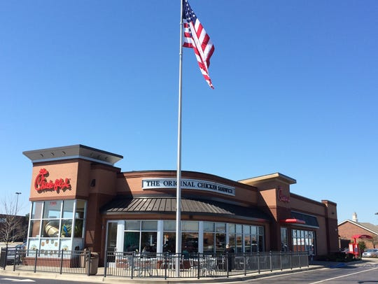 A Chick-fil-A restaurant in Indiana.