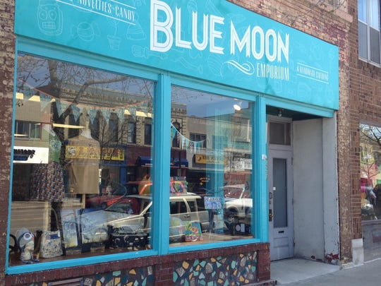 Blue Moon Emporium in Appleton is temporarily closed due to the COVID-19 pandemic. The shop's owner, Cathy Stratton, transitioned to selling her wares online.