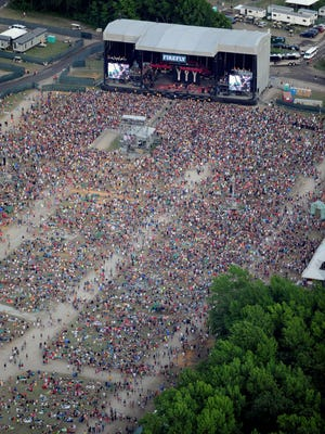 The main Firefly Music Festival stage is shown in 2013. This year's festival is on course to attract 90,000 fans, organizers said Wednesday.