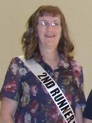Becky Hayslip, shown at the 2015 Ms. Eagle Fest Classic contest, was honored for her 10 years at the Senior Citizen Center recently.