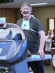 Jeff Seamans of Waverly works out at the Atlantic Health