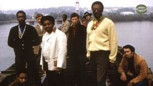 Freeman Brown (wearing white jacket) was part of the Fame Gang.