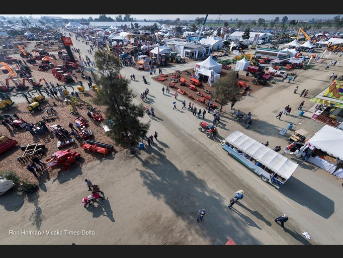 Overlooking the World Ag Expo 2017 from Q and Median