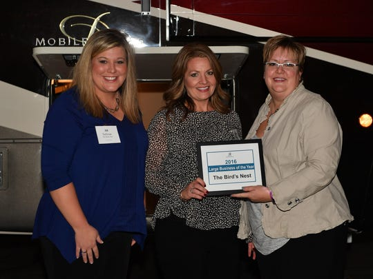 Bird's Nest owners, Jill Sullivan and Felicia Collison, received the award for large business of the year.