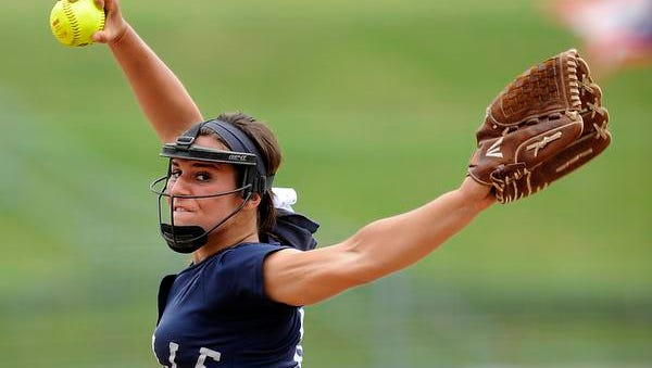 Granville senior Abby Barker threw a no-hitter with 14 strikeouts against Jefferson in the state semifinal on Thursday at Firestone Stadium in Akron. Barker's no-hitter was the 12th in state semifinal history.