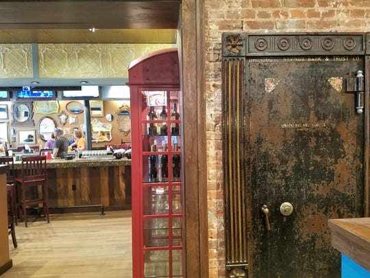 To the right is the old bank vault door originally